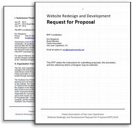 simply great websites request for proposal rfp